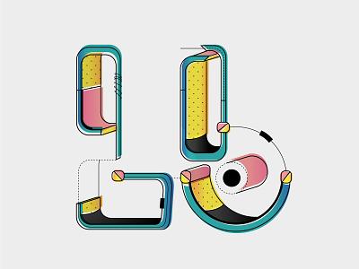 Lopeb  | Typography typography design illustrator colors design motion animation animate animated typography