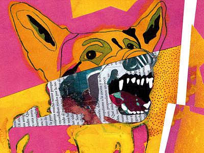 Dog | Illustration fun art pencil art paper perro design experimental design design art dogs drawing photoshop handmade newspaper illustrate illustration art illustration animal collage art art collage dog