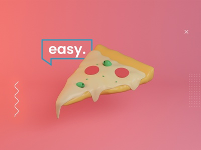 Foodie. pink pepperoni cheese easy motion graphics motion design design pizza animated animation after effects aftereffects cinema 4d cinema4d 3d animation studio 3d animation 3d art 3d