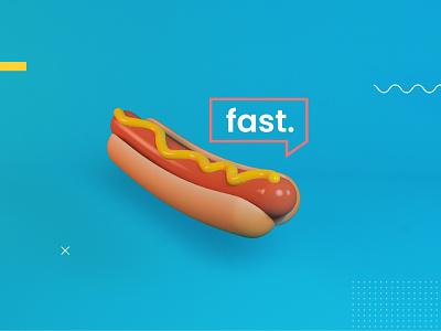 Foodie. 3d animation design art design foodie animation blue motion design motiongraphics cinema 4d cinema4d after effects aftereffects fastfood fast hotdog hot dog 3d art 3d