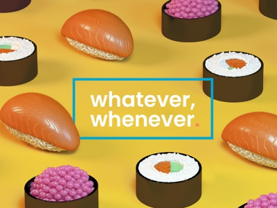 Foodie. delivery foodie caviar sushi roll roll nigiri sushi design after effects motion graphics motion cinema 4d cinema4d 3d art 3d illustration 3d animation studio 3d modeling 3d animation 3d artist 3d