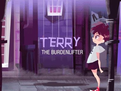 """Terry The Burdenlifter"" gif animation illustration kid animation run children book story book"