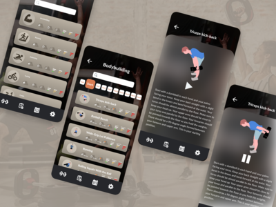 fitness app concept