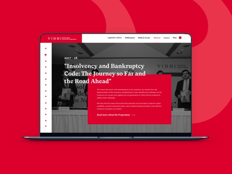 Website design for Vidhi