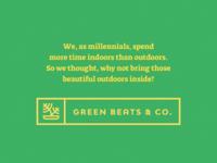 Green Beats ~ Brand Identity & Web Design brand development plantapp introduction logo design logo