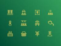 Green Beats ~ Brand Identity & Web Design plant app brand system brand icons icon design icon set icon