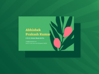 Green Beats ~ Brand Identity & Web Design illustration branding design branding business card business card design plant illustration visiting card design