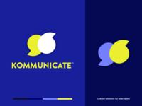 Kommunicate branding : Logo design