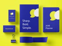 Kommunicate branding : Stationery collaterals
