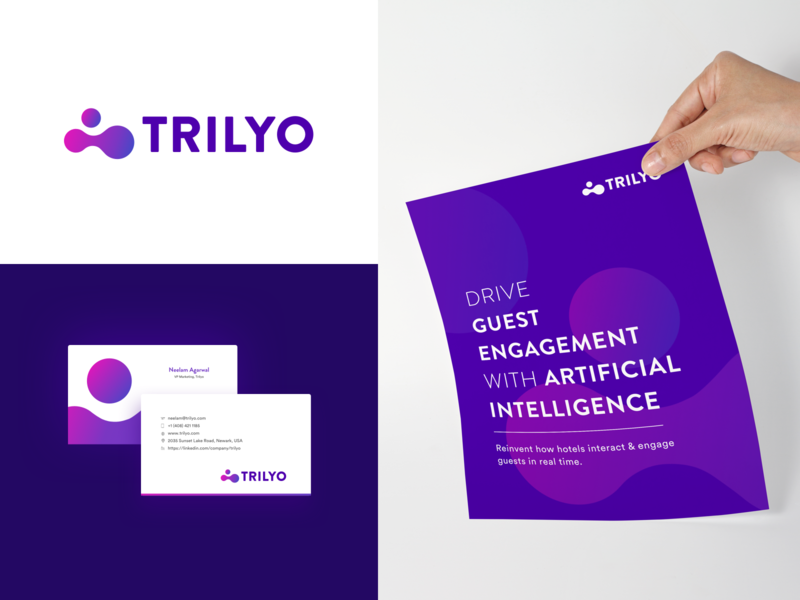 Trilyo : Brand Collaterals artificial intelligence visiting card design flyer design busines card collaterals logo typography brand identity design graphic logo design logo design concept brand identity branding bangalore design brand development brand and identity brand agency design studio studio unlost