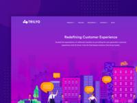 Trilyo : Landing page design