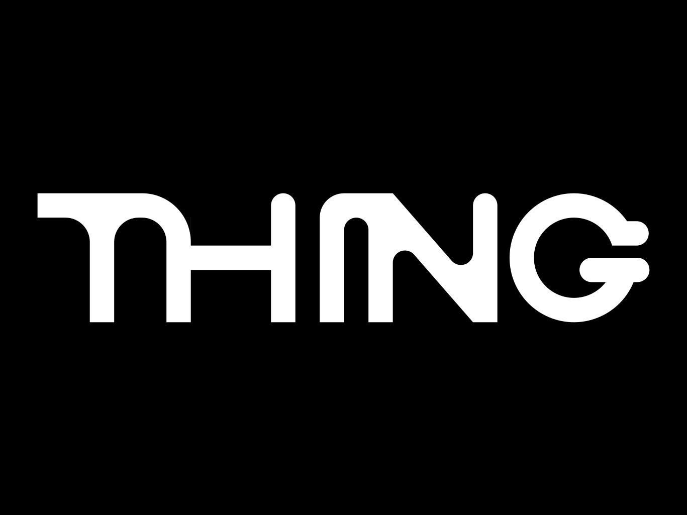 Thing Design word vector design logo digital