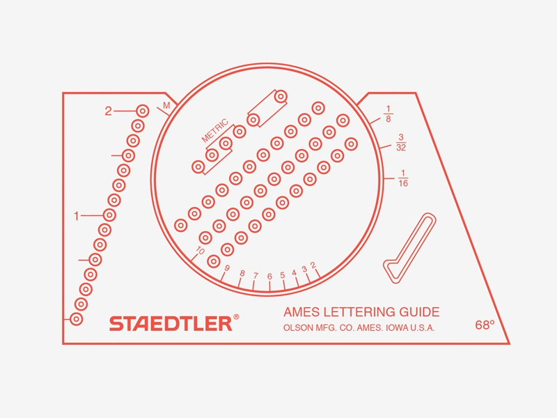 ames lettering guide lettering guide by blevins dribbble dribbble 657