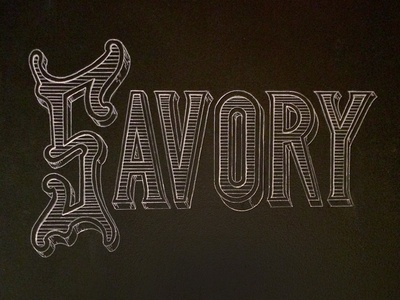 Savory Chalk Lettering etched marker chalk lettering vintage texture type typography signs restaurant