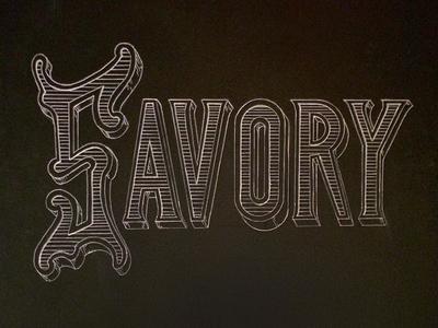 Savory Chalk Lettering
