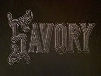 Savory Chalk Lettering