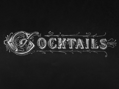 Cocktails Chalk Lettering (aka Thirsty Thursdays) chalk lettering vintage texture type typography signs restaurant alcohol gradient