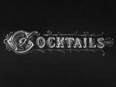 Cocktails Chalk Lettering (aka Thirsty Thursdays)