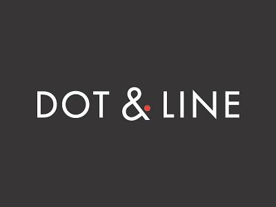 Dot & Line logotype type digital line dot ampersand futura modern design logo