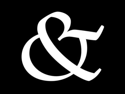 Ampersand white black typography speedball design type ampersand calligraphy