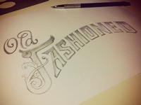 Old Fashioned Type Sketch