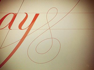 S Is For Scripts spencerian roundhand script zanerian alphabets haireline vector swash ligatures illustrator type typography type tuesdays screenshot