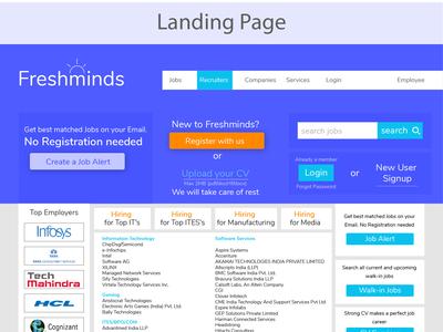 Freshminds Web Landing Page