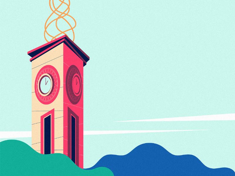 Davao City I city landscape philippines davao illustration styleframe