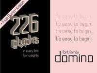 Domino. Monospace san serif font family