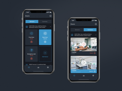 Smart home app 🏠📱 mobile ui door camera sensors control home aqara homekit xiaomi ux ui smart home iot design ios app smarthome