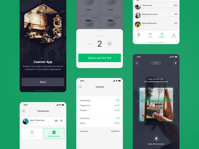Cashier app cheсkout total onboarding bill scan qr codes cashier nowadigit ios app design concept figma ux ui