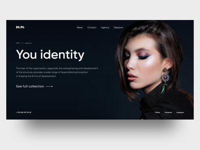 Mi.Ph promo site web ux ui figma fashion blog concept promo model agency digital makeup photograph fashion