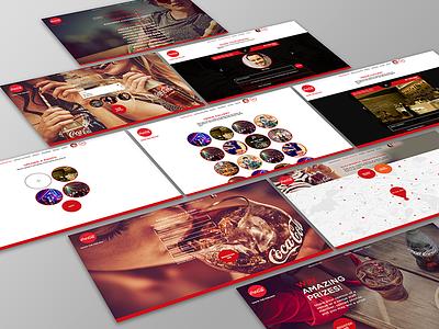 Coca-Cola Promo Bar Platform design bartenders venue coca-cola platform design web design uiux