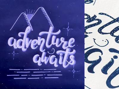 Adventure Awaits Handwriting