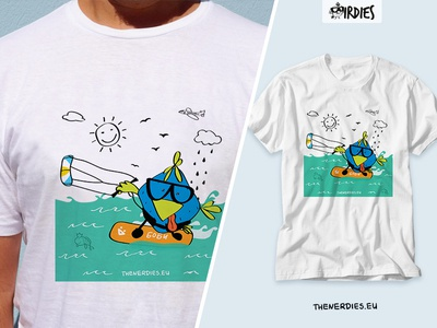 Birdies Nerdies T-shirt Design