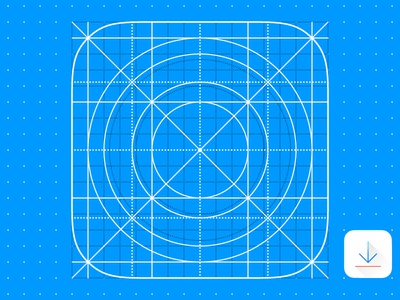 Free iOS 7 iOS7 iOS 8 iOS8 iOS 9 iOS9 Icon Grid Template Vector