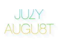 7th July 8th August
