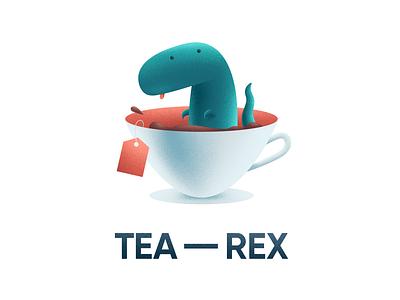 Tea Rex tea rex dinosaurio dinosaurs dinosaur dinos dino trex illustration digital illustration design illustration art illustrations/ui illustrations illustration illustrator