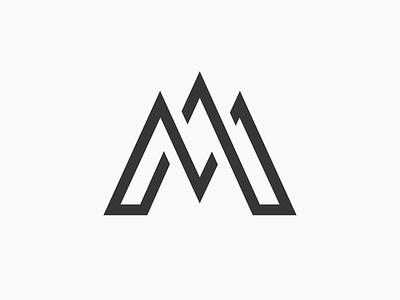 M letter logo design letters symbol mark icon m letter monogram simple flat identity branding logo