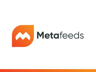 Metafeeds simple project m letter icon font monogram motion logo identity flat branding