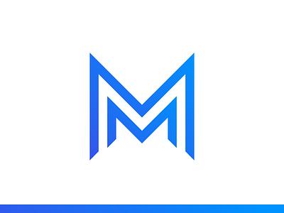 MM Logo simple project motion monogram m logo letter identity icon font flat branding