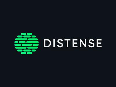 Logo for distenes simple project motion monogram m logo letter identity icon font flat branding