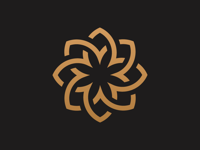 Gold Flower  logo logo for sale buy logo shutterstock location app mark branding identity luxery gold flower icon monogram simple flat logo