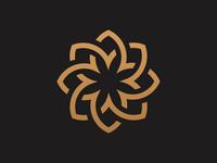 Gold Flower  logo