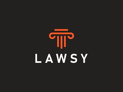 LAWSY Logo law symbol location mark font monogram simple flat identity branding logo