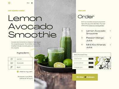 Smoothie Shop column juice shop juice bar juice ui design food ui food map order cart smoothie layout ui design