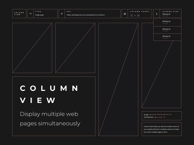 Column View — Display multiple web pages simultaneously sideproject ui display columnview testing mobile responsive column