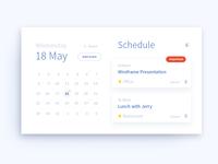 071 DailyUI — Schedule