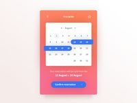 080 DailyUI — Date Picker