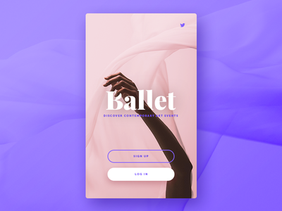 093 DailyUI — Splash Screen ballet ui screen splash dailyui 093